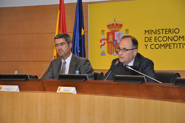 Fernando Jiménez Latorre, Secretary of State for Economy and Business Support, and Fernando Restoy, Deputy Governor of the Bank of Spain. Photo (4/4)