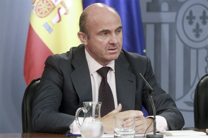 The Minister of Economy and Competitiveness, Luis de Guindos